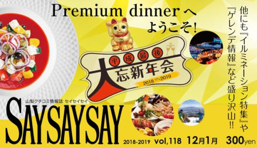SAYSAYSAY VOL.118バックナンバー|山梨クチコミ情報誌セイセイセイ