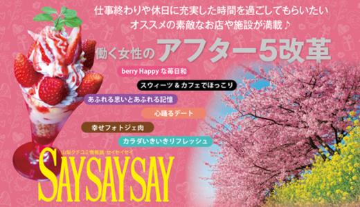 SAYSAYSAY VOL.119バックナンバー|山梨クチコミ情報誌セイセイセイ