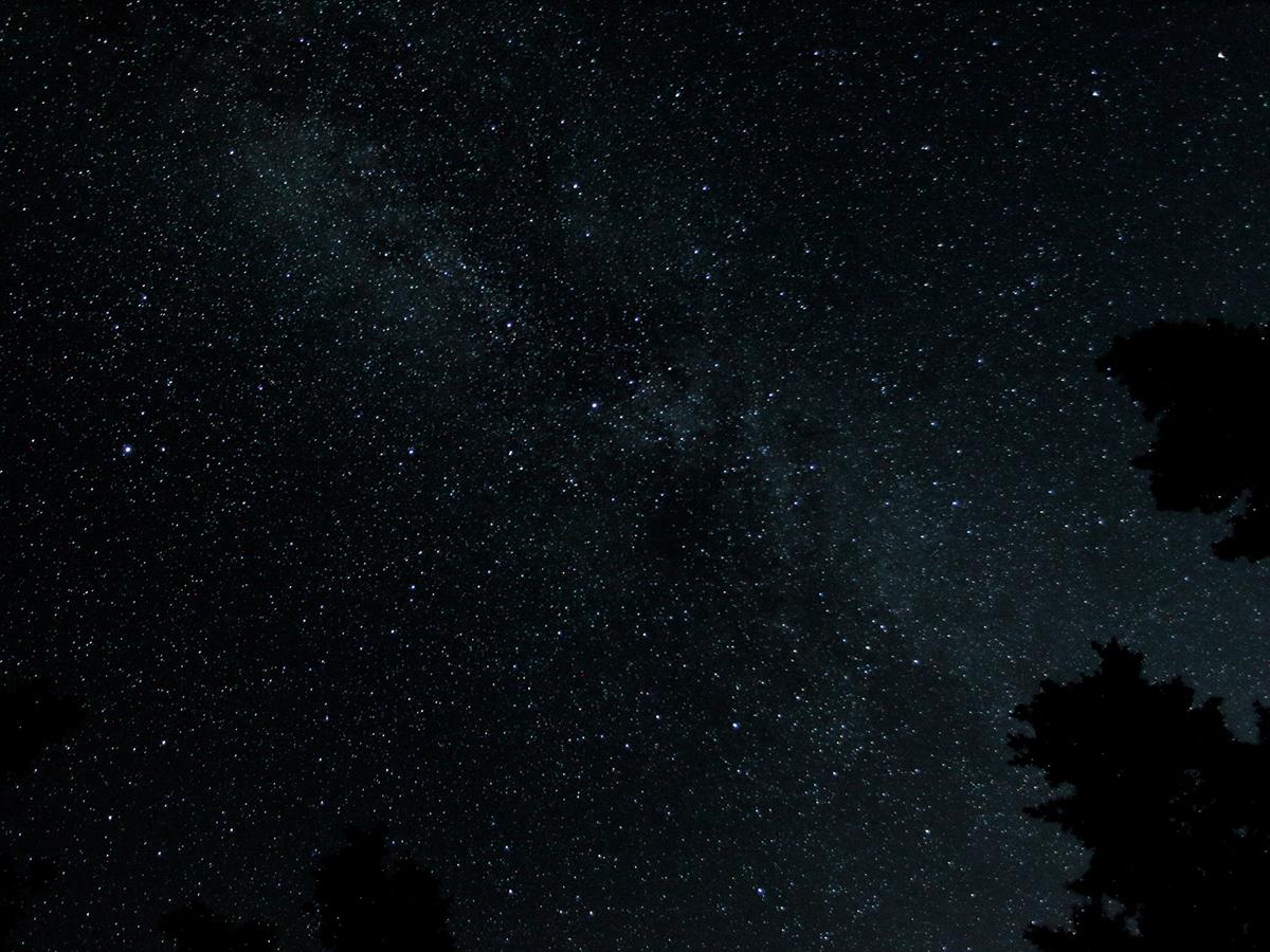 カシオペア輝く!満天の星空観察